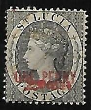 St. Lucia: 1881; Scott Official Due, 1 and 1A, Used, Good condition, EBB128