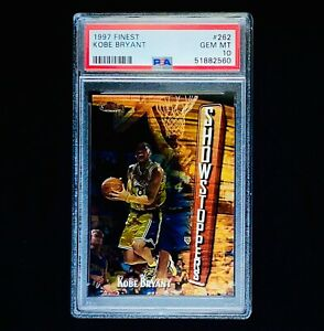 1997 Topps Finest Kobe Bryant #262 Showstoppers 2nd Year! PSA 10
