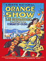 Orange Show San Bernardino  Metal Sign