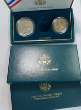 2 Piece *Missing Gold* Coin 1995 Civil War Battle Silver Dollar / Half Dollar