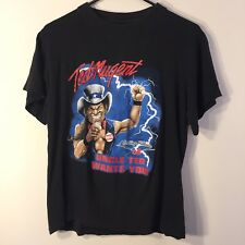 Ted Nugent Rolling Thunder Tour 08 Concert T Shirt Uncle Ted Wants You Sz Medium