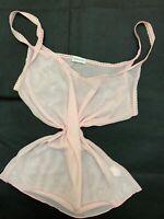 Intimissimi pink mesh Camisole Top sleepwear nightwear size L