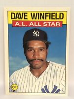 1986 Topps Tiffany Dave Winfield baseball card New York Yankees #717 All Star