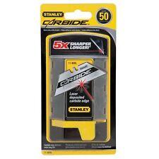 Stanley Carbide Utility Knife Blades Laser Deposited Edge 50mm 50pcs *usa Made