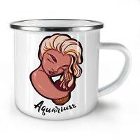 Aquarius NEW Enamel Tea Mug 10 oz | Wellcoda
