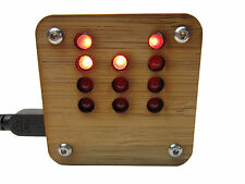 Binary Clock KIT in Sustainable Bamboo Case USB Powered