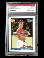 1991 TOPPS #333 CHIPPER JONES ROOKIE CARD PSA 9 MINT