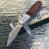 """3.5"""" Closed Wood Handle Barlow Folding Pocket Knife Exclusive Double Blade New"""