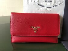 100% Authentic Prada Card Case In Fuoco