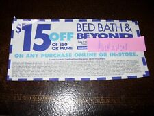 Bed Bath and Beyond Coupon $15 Off $50 Online or In Store