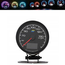 Universal Racing Car Oil Temp Gauge 7 Backlit Display Digital Voltage Meter 62mm
