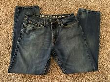 Nautica Mens 30 x 30 Blue Denim Jeans Straight Fit