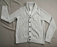GAP Men's Light Cream Cable Knit Button Up Cardigan Size M Medium New With Tags
