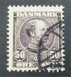 nystamps Denmark Stamp # 68 Used $120     S24x350