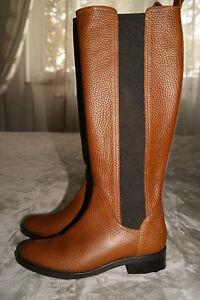 Hugo Boss Stiefel Gr. 38 Boots Reitstiefel Leder braun Selika-X NEU