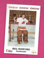 RARE 1986-87 FLAMES BILL RANFORD PRE-ROOKIE NRMT-MT  CARD (INV# D6996)