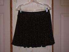 Aviva XL Juniors Black w Metallic Sparkle Lined Mini Skirt