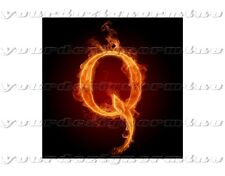 QAnon Q sticker FLAMES car window bumper where we go one go all Trump Deep State