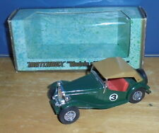 Matchbox Yesteryear Y8 MG TC Green #3 with Dark Pink Seats Issue 5