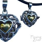 """925 SOLID Sterling Silver Heart Chime Harmony Ball Pendant New """"Bali Forever"""""""