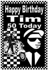 Ska / Mods / 2 Tone - Fun Personalised Birthday Fridge Magnet - Name/Age - Gift