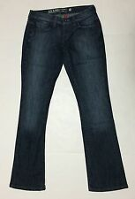 Guess Women's Jeans Starlet Slim Boot Cut Dark Distressed Wash 24 x 29.5 Denim