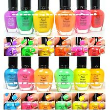 12 PCS KLEANCOLOR NEON HOT SUMMER COLLECTION SET NAIL POLISH LACQUER KNP2+KNP3