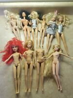 Lot Of 10 Scratch And Dent Barbie Dolls Come As Is For Parts