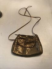 "*Whiting & Davis Bronze Mesh ""Hobo"" Shoulder Bag w Bronze Leather? Strap"