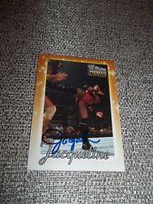 2003 FLEER SIGNED JACQUELINE AUTO CARD WWE DIVINE DIVAS AUTOGRAPH + COA wwf