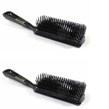 MARVY BLACK 11-ROW POLY PIN STYLING HAIRBRUSH TWO (2) BRUSHES 1921-2
