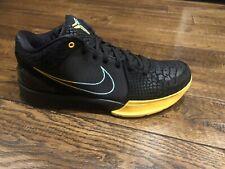"Nike Kobe IV 4 Protro ""Snake"" Black Yellow Men's Size 10 - Verified Authentic"