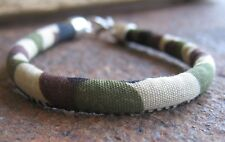 Camouflage Bracelet Army Military Men's Fabric Round herrenarmand Brown Green