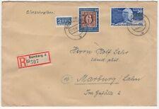 Bund, Nr. 115, 116 auf Einschreibebrief, Tag der Briefmarke und UPU