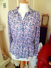 Timeless GHOST Stunning Floral Blouse Medium Worn Once