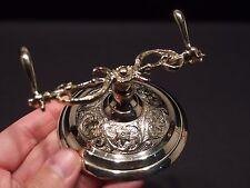 Antique Style Ornate Golden Brass Pen Holder Desk Stand