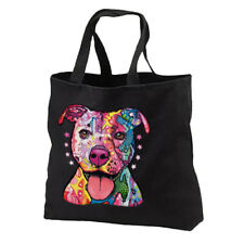 Neon Pit Bull Dog New Black Tote Bag Shop Books Gifts Students Free Shipping USA
