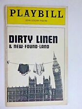 1977 Playbill DIRTY LINEN and NEW-FOUND-LAND by Tom Stoppard