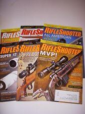 RIFLESHOOTER Magazine, LOT OF 6, 2011, 2012, MOSSBERG .223 BOLT GUN, REMINGTON!
