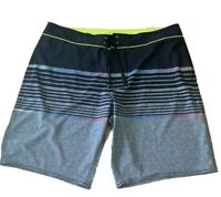 Mens plus size 40  boardies boardshorts  board shorts Grey stripey Target NEW