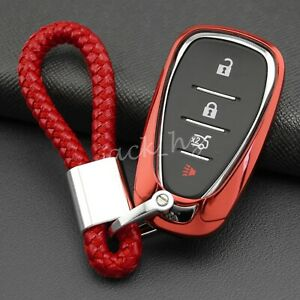 Smart Car Key Fob Cover Chain Ring Case For Chevrolet Accessories Red