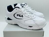 Fila Men's Tri Runner Athletic Shoes Running Sneakers - White / Navy