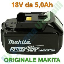 Batteria Litio 18V 5Ah ORIGINALE MAKITA Li-ion Indicatore di Carica LED BL1850B