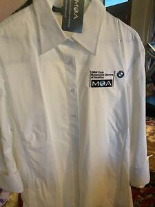 MOA Bmw Shirt Mens White Button Down 2XL