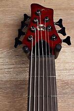 Wolf S11 7 String Jazz Bass Neck Through Transparent Red