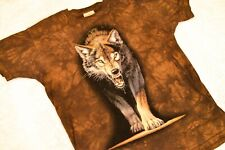 Vintage 1999 The Mountain Wolf Shirt Animals Brown Large