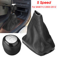 5 Speed Gear Shift Knob Shifter & Gaiter Boot 55566206 55353898 For SAAB 9-3 93