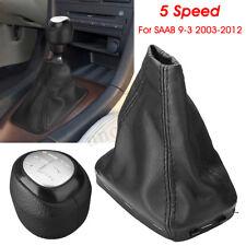 5 Speed Gear Shift Knob Shifter & Gaiter Boot 55566206 55353898 For SAAB 9-3 93