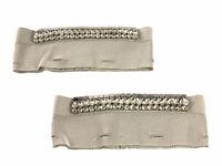 MAX MARA Women's Dorotea Ivory Embellished Cuffs One Size $495 NWT