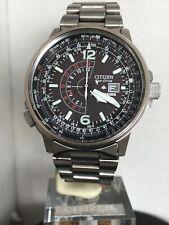 Citizen Men's Eco Drive Nighthawk Promaster Titanium Bracelet Watch BJ7020-55E